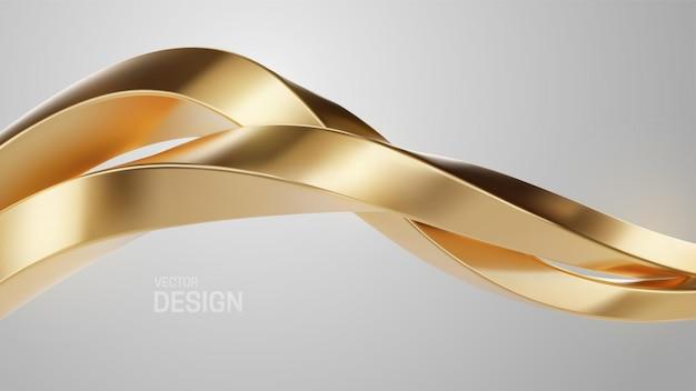 Абстрактный роскошный ювелирный фон с золотыми переплетенными формами