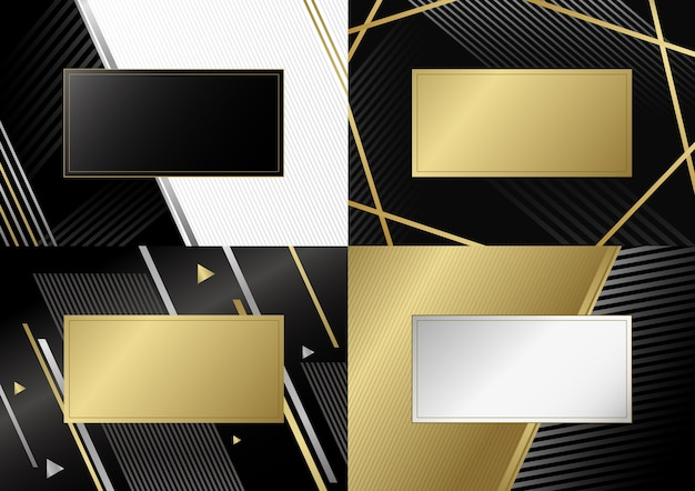 Abstract luxury background design of line