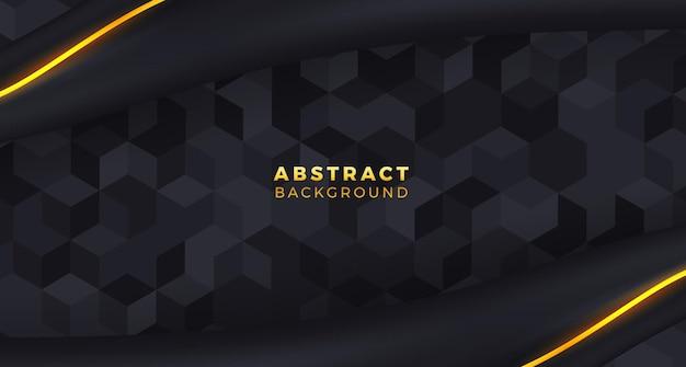 Абстрактный роскошный фон с геометрией куба узор плитки и королевской шелковой и золотой линией