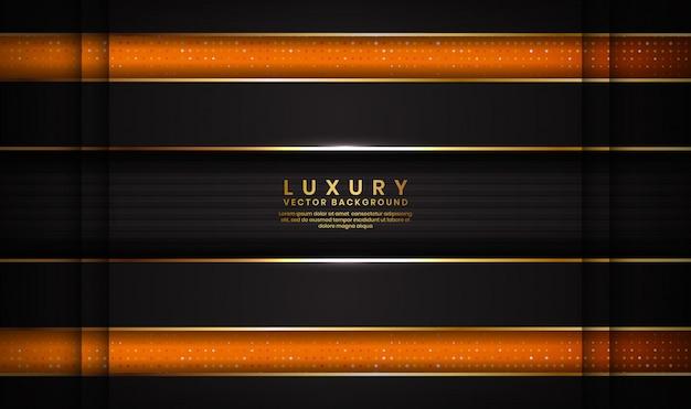 抽象的な豪華な黒とオレンジ色の背景