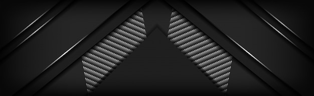 Abstract luxury black carbon background