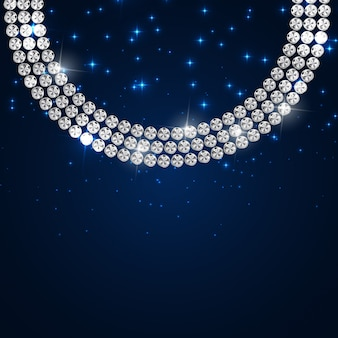 抽象的な高級ブラックダイヤモンド背景イラスト