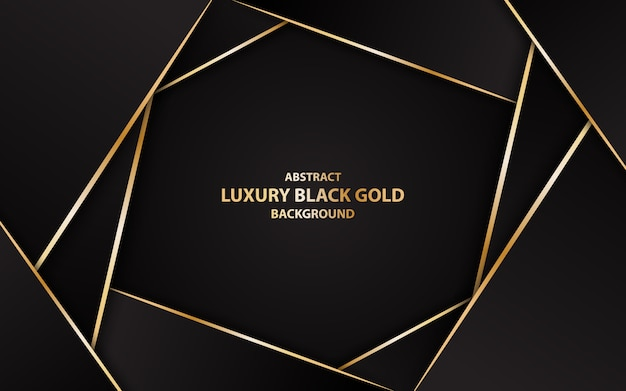 Abstract luxury black gold background illustration