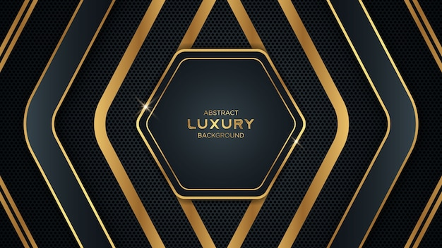 Abstract luxury black and golden background