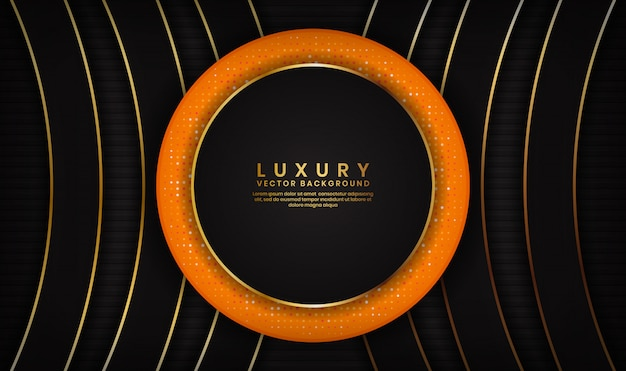 Abstract luxury black and orange background