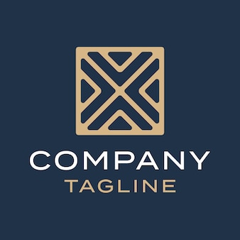 Abstract luxury cross letter x monoline logo