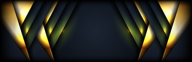 Abstract luxury dark background with combination gold shining