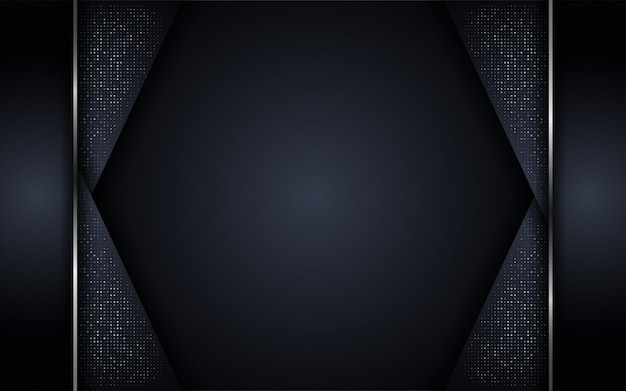 Abstract luxury dark background with glitter and mettalic lines combinations