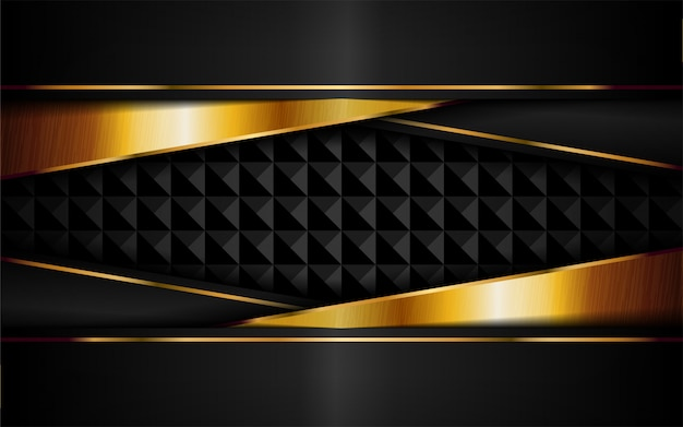Abstract luxury dark background with golden lines combinations.