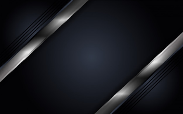 Abstract luxury dark background with mettalic lines combinations