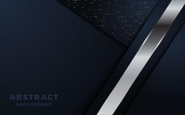 Абстрактная роскошная темная предпосылка с серебряными комбинациями линий и точек.