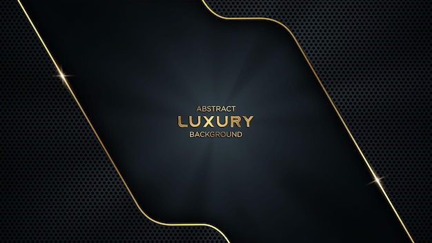 Abstract luxury dark and golden tech background