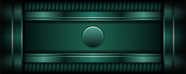 Abstract luxury dark green background with overlap layer