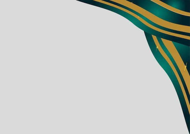 Abstract luxury dark green overlap layer with golden line on silver background. luxury and elegant background. abstract template design. design for presentation, banner, cover, business card