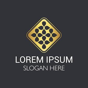 ロゴのデザインの抽象的な豪華な要素。