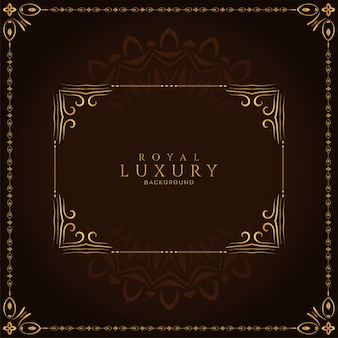 Abstract luxury frame royal decorative background