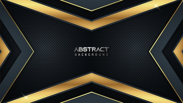 Abstract luxury gaming background with golden lines and copy space for text