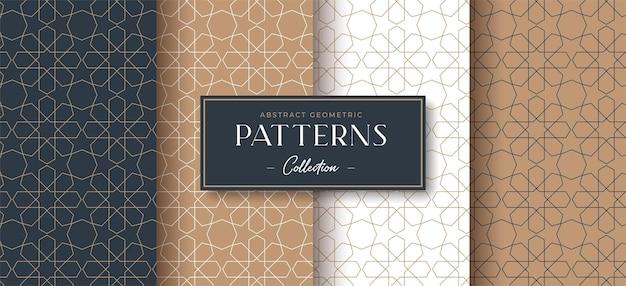 抽象的な豪華な幾何学的なシームレスパターンコレクション