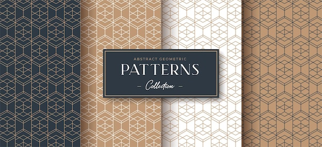 추상 럭셔리 기하학적 완벽 한 패턴 컬렉션