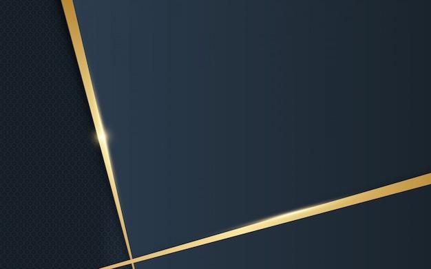 抽象的な豪華な金色とダークブルーの背景