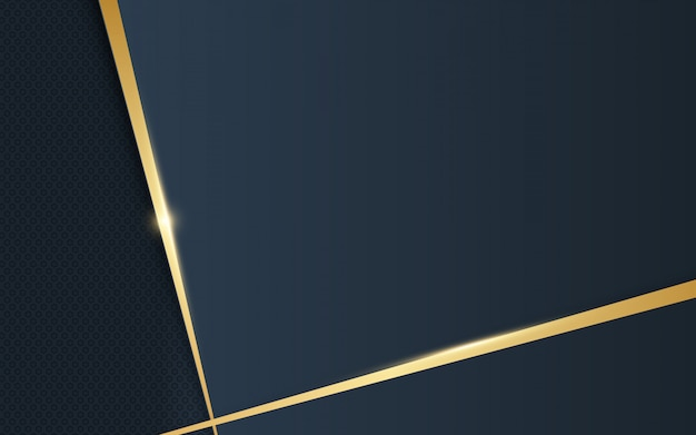 Abstract luxury gold and dark blue background