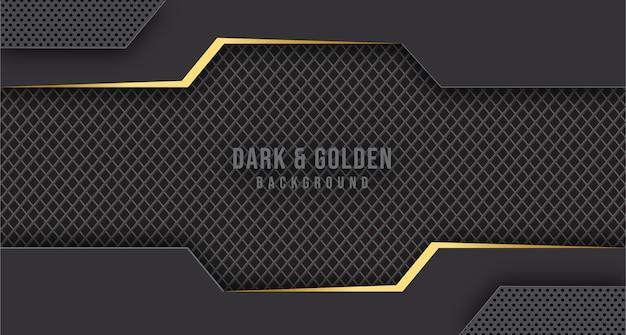 Абстрактный роскошный золотой металлический геометрический фон
