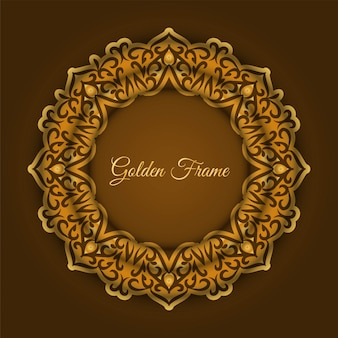 Abstract luxury golden frame background