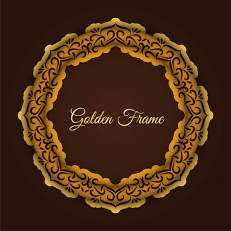 Abstract luxury golden frame