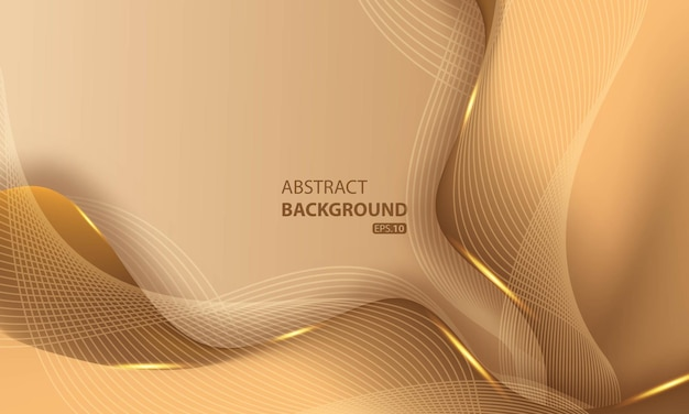 Abstract luxury golden lines background with glow effect