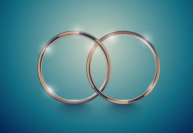 抽象的な豪華な金の指輪