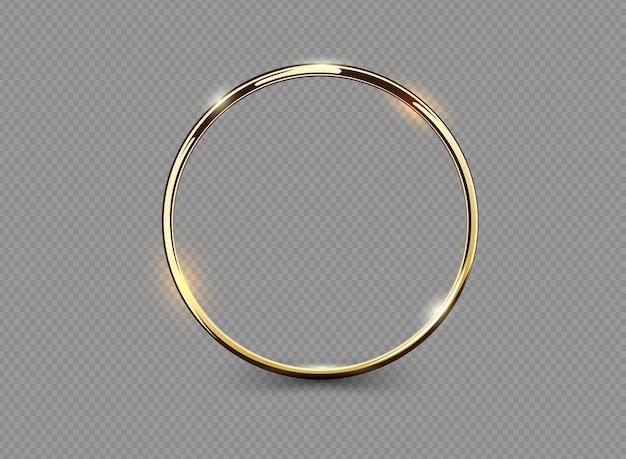 抽象的な贅沢な金の指輪