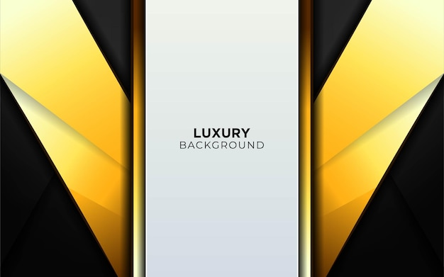Abstract luxury grey and gold shape background banner.