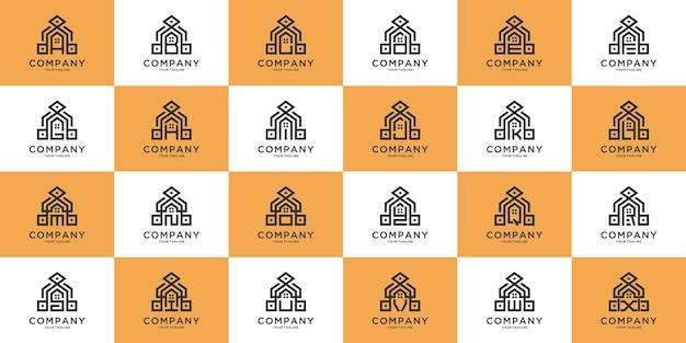 最初の文字aからzのデザインの抽象的な高級住宅のロゴ