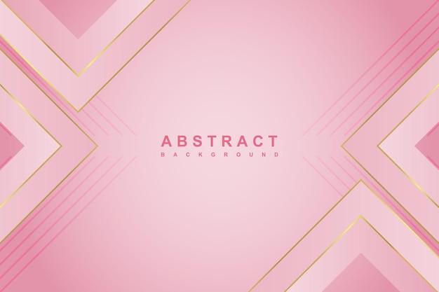 Абстрактный роскошный розовый градиентный фон с геометрической формой