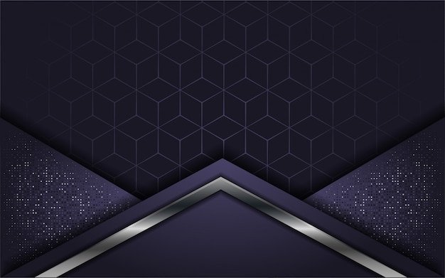 Abstract luxury purple with overlap layer