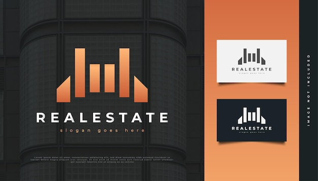Abstract luxury real estate logo design. construction, architecture or building logo design