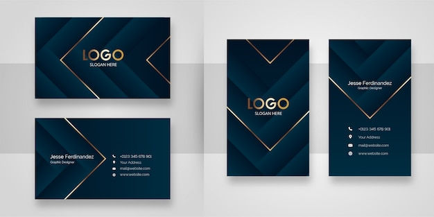 Abstract luxury shape business card template