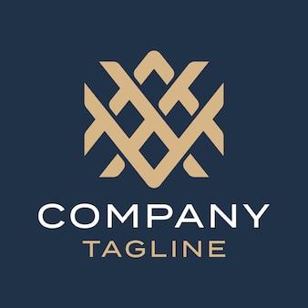 Abstract luxury simple modern monogram letter a x v gold logo design