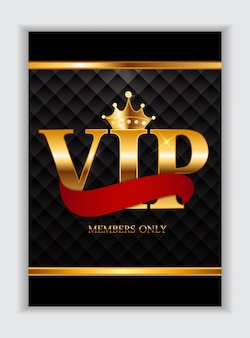 Abstract luxury vip members only card