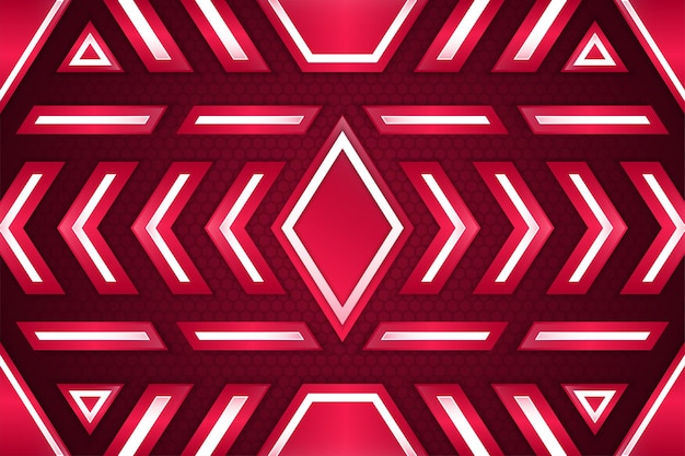 Abstract luxury white and pink background overlap layer on bright space with hexagon patterns