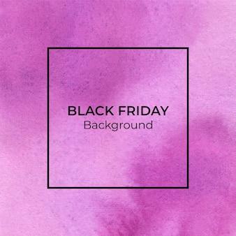 Абстрактный пурпурный blackfriday акварель текстуры фона