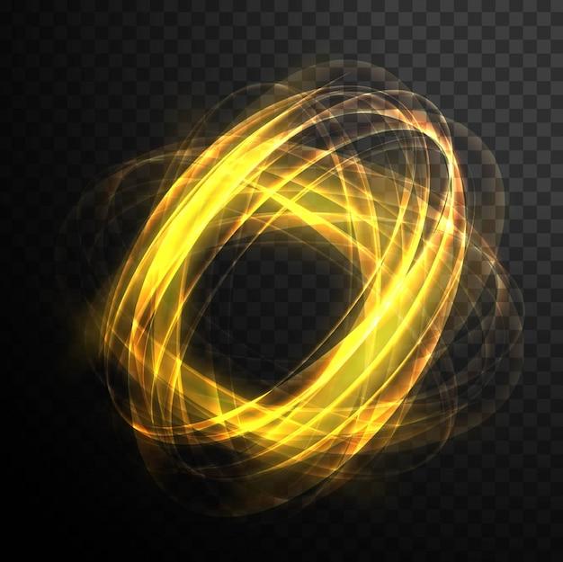 Абстрактный волшебный светящийся вихревой прозрачный световой эффект. яркий блеск