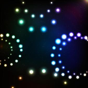 抽象的な魔法の光の背景ベクトルイラストeps10