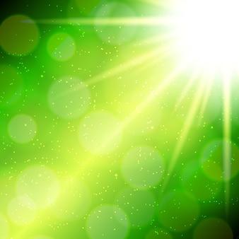 抽象的な魔法の光の背景ベクトル図