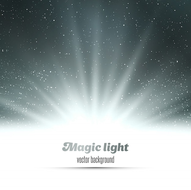 Abstract magic  light background.