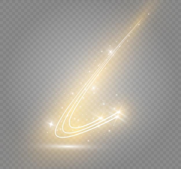 Neon.cometで抽象的な魔法の渦グロースターライト効果
