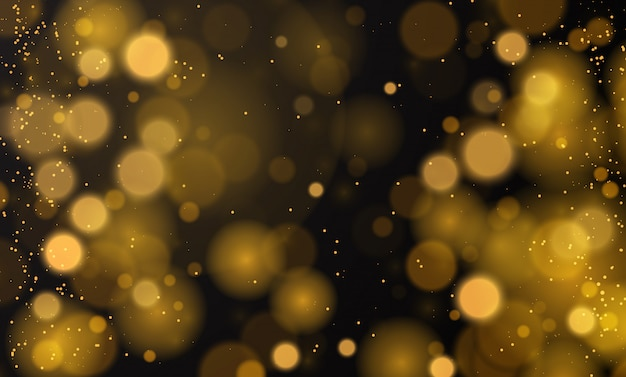 Abstract magical background with bokeh lights effect