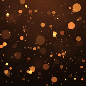 Abstract magical bokeh lights effect background glitter and elegant for christmas