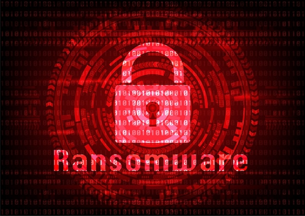 Abstract malware ransomware virus encrypted files.