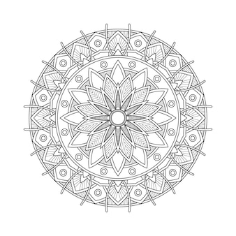 Abstract mandala arabesque coloring page book illustration. t-shirt . floral wallpaper background